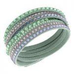 Swarovski Bracelet Slake Light Green Deluxe Alcantara