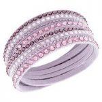 Swarovski Bracelet Slake Pink Deluxe Alcantara