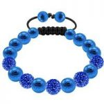 Tresor Paris Bracelet 10mm Blue Crystal Stainless Steel S