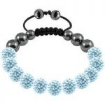 Tresor Paris Bracelet 10mm Light Blue Crystal S