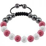 Tresor Paris Bracelet 10mm Pink White Crystal S