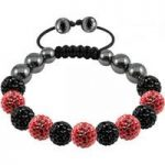 Tresor Paris Bracelet 10mm Red Black Crystal S