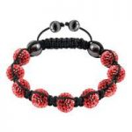 Tresor Paris Bracelet 10mm Red Crystal S