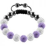 Tresor Paris Bracelet 10mm White Lilac Crystal S
