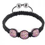Tresor Paris Bracelet 3 Rose Pink Crystal S