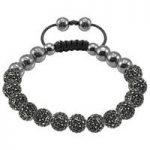 Tresor Paris Bracelet 8mm Grey Crystal S