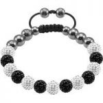 Tresor Paris Bracelet 8mm White Black Crystal S