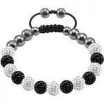 Tresor Paris Bracelet 8mm White Black Crystal S