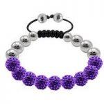 Tresor Paris Bracelet Purple Crystal Steel 10mm S