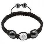 Tresor Paris Bracelet White Crystal & 2 Magnetite S