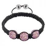 Tresor Paris Bracelets Blush Pink Crystal Steel S