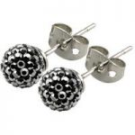 Tresor Paris Earrings 6mm Grey Crystal
