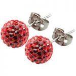 Tresor Paris Earrings 8mm Red Crystal