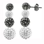 Tresor Paris Earrings Grey White Drop