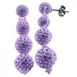 Tresor Paris Earrings Lilac Crystal Drop