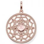 Thomas Sabo Pendant Glam & Soul Round Lotus Rose Gold