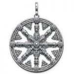 Thomas Sabo Pendant Karma Beads Wheel of Karma Silver