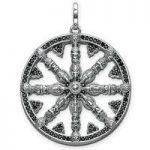 Thomas Sabo Pendant Karma Beads Wheel of Karma Silver