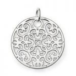 Thomas Sabo Pendant Silver Arabesque Cut Out Disc
