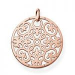 Thomas Sabo Pendant Sterling Silver Special Addition 18k Rose Gold Plated Ornament Disc