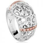 Clogau Ring Am Byth Silver, Rose Gold and Diamond