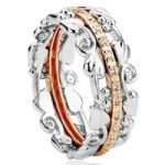 Clogau Ring Am Byth Silver, Rose Gold and Diamonds