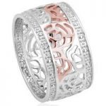 Clogau Ring Royal Roses Silver O