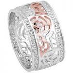 Clogau Ring Royal Roses Silver P