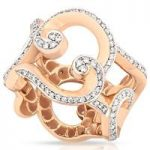 Faberge Ring Rococo Pave Diamond Rose Gold