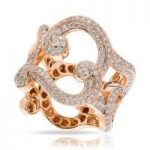 Faberge Rococo Ring Lace Diamond 18ct Rose Gold