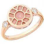 Heritage Pink Enamel Rose Gold Ring