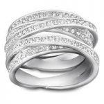 Swarovski Ring Spiral Rhodium