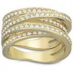 Swarovski Ring Spiral Yellow Gold