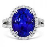 Tanzanite Ring With Surrounding Diamonds