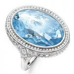 Thomas Sabo Ring Glam & Soul Blue Eternity of Love