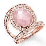 Thomas Sabo Ring Glam & Soul Eternity Of Love Rose Quartz Rose Gold D