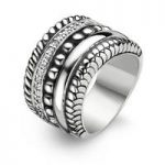 Ti Sento Ring Silver And White Cubic Zirconia Multi Band