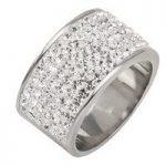 Tresor Paris Ring White Crystal White Gold 11mm D