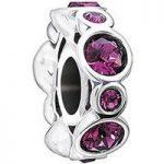 Chamilia Charm Birthstone Jewels February Silver