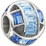 Chamilia Charm Blue Swarovski Silver