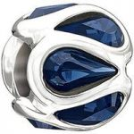 Chamilia Charm Embrace Blue Swarovski Silver