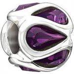 Chamilia Charm Embrace Purple Swarovski Silver