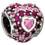 Chamilia Charm Jewelled Heart In Heart D