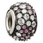 Chamilia Charm Jewelled Kaleidoscope Pink & Black
