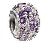 Chamilia Charm Jewelled Kaleidoscope Purple