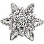 Chamilia Charm Snowflake Lock Silver