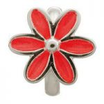 Endless Jewellery Charm Enamel Flower Red Silver