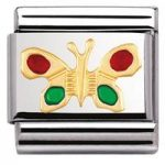 Nomination Charm Composable Classic Air Animals Butterfly Steel