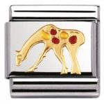Nomination Charm Composable Classic Air Animals Giraffe Steel