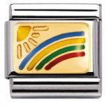Nomination Charm Composable Classic Daily Life Rainbow Steel